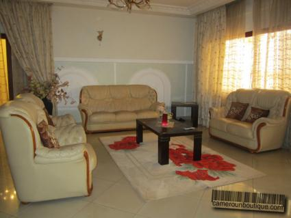 Salon appartement meublé Yaoundé Nkomo Maetur