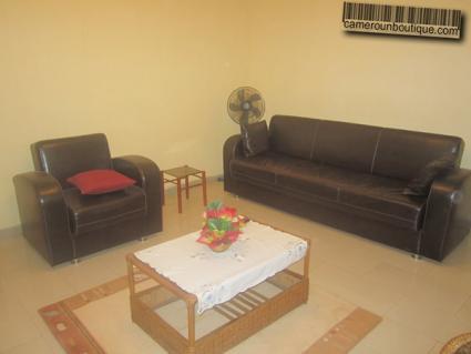 Salon appartement meublé à yaoundé mvan entrée BEAC